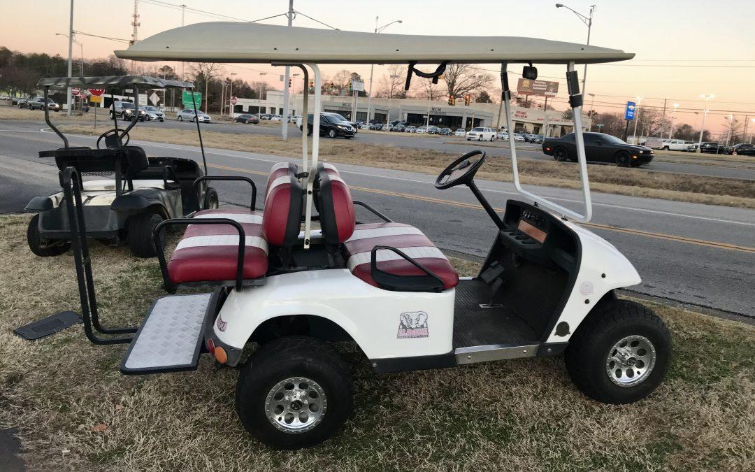 Custom Alabama Crimson Tide Golf Cart